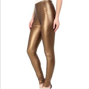 NWT Lysse Copper Faux Leather Leggings